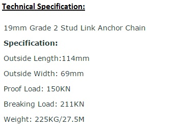19mm Grade 2 Stud Link Anchor Chain2